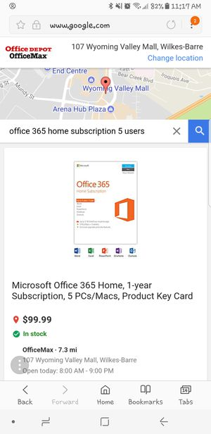 Microsoft office 365 and antivirus for Sale in Wilkes-Barre, PA
