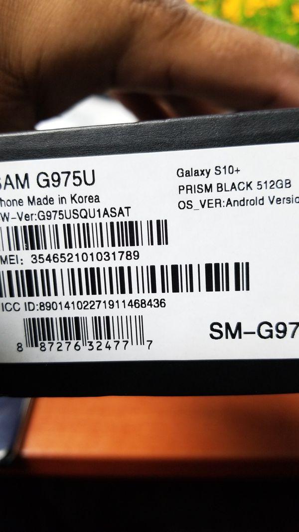 New Samsung Galaxy S10 Plus 512G DUAL Sim unlocked