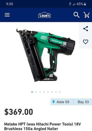 Metabo 18V battery powered nail gun for Sale in Hillsboro, OR