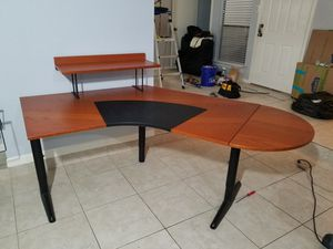 3 piece set: Corner Desk with Filing Cabinet and Drafting Table for Sale in Houston, TX