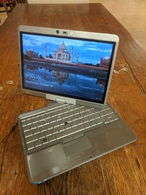 Two-in-One Touchscreen Laptop; HP EliteBook 2730p, L9300 CPU, 4GB RAM, 80GB HDD, Windows 10. for Sale in Newark, OH