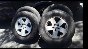 Jeep wheels and nitro tires 265-70/R18 for Sale in Douglasville, GA