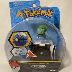 DVNBS Pokémon Throw 'N' Pop Poké Ball, Bulbasaur and Ultra Ball Action Figure Toy for Children's Toy Set (Bulbassur) for Sale in Las Vegas, NV