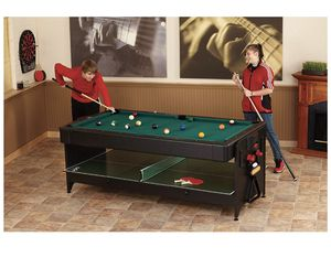 Fat Cat 3 in 1 Pockey Air Hockey+ Pool Table + Table Tennis for Sale in Parker, CO