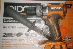 Ridgid R86116 18-Volt Lithium-Ion Cordless Brushless 1/2in Hammer Drill (Tool Only - Battery and Charger NOT Included) for Sale in Temple, GA