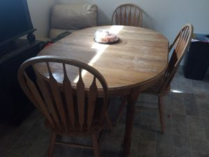 Wooden kitchen table for Sale in Tacoma, WA