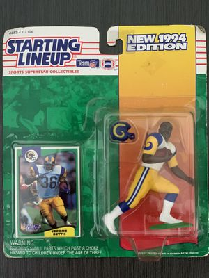 Starting Lineup 1994 | Collectible Action Figure | LA Rams Half Back Jerome Bettis for Sale in Tampa, FL