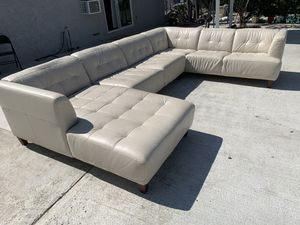 Modern leather white sectional sofa for Sale in Chino Hills, CA