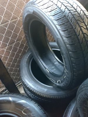 Set 205/55/16 Firestone Champion used including installation and BALANCE for Sale in Montebello, CA