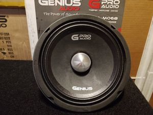 "New 8"" Genius Audio Neodymium Pro Midrange Speaker ($90 each) for Sale in Schenectady, NY"