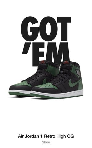 Nike Air Jordan 1 High OG pine green for Sale in Carson, CA