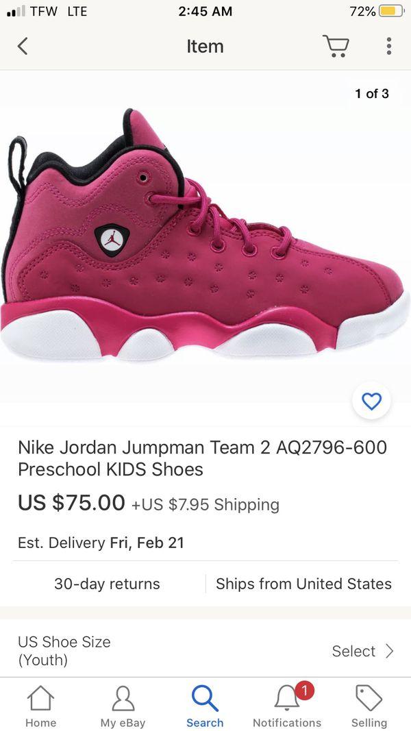Jordan girls 6c 7c 8 c 10 c