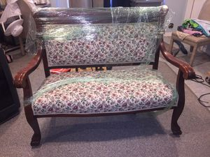Vintage 1890's early 1900's bench and chair for Sale in Wolcott, CT