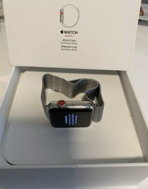 Apple Watch Series 3 42mm Stainless Steel (GPS + Cellular) w/ Milanese Loop (PERFECT CONDITION) for Sale in Phoenix, AZ