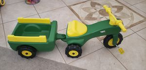 John Deere trike and wagon set. for Sale in San Tan Valley, AZ