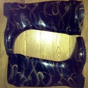Polo Ralph Lauren Black Rain Boot Women SIZE 10 RARE for Sale in Boston, MA