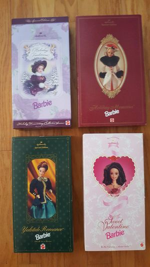 Hallmark Holiday Barbies Memories, Yuletide, Traditions, Valentines for Sale in Kissimmee, FL