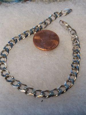 8 inch Italian Sterling silver bracelet for Sale in Willow Street, PA