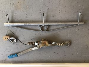 """2-ton Cable Puller/Hand Winch/Come-Along -AND- 36"""" Fence Stretcher w/3 Hooks. For Installing Chain Link Fencing. for Sale in City of Industry, CA"""