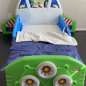 Kids Twin Little Tikes Toy Story Bed With Mattress for Sale in Houston, TX