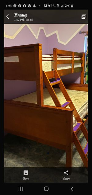 Bunk beds twin & full size for Sale in Victorville, CA