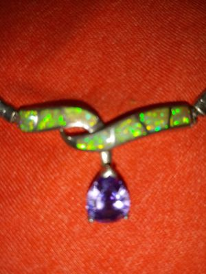 STERLING SILVER & AMETHYST &JADE NICE SIZE STONE for Sale in San Diego, CA