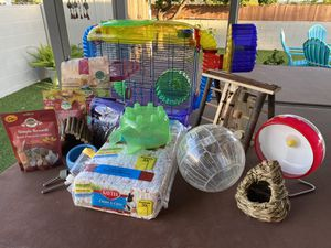 Hamster cage with supplies for Sale in San Diego, CA