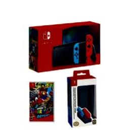 Nintendo Switch Console with Mario Odyssey Game & Gray Dual Joy-Con Charger for Sale in Baldwin Park, CA