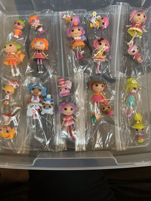Lalaloopsy collection of sisters. 10 sets total bagged and separated with their pet. for Sale in Tamarac, FL