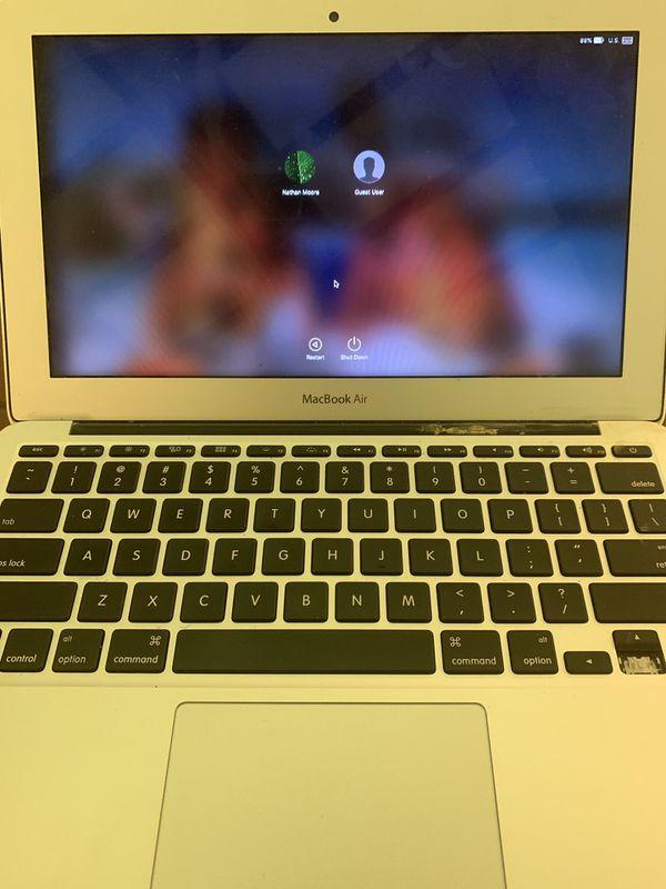 MacBook Air 2015 11 inch ((Account Locked)) ((missing down arrow key))