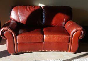 Leather Love Seat Sofa for Sale in Scottsdale, AZ