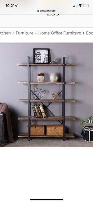 New hommisue 5 tier industrial book case for Sale in Dublin, OH