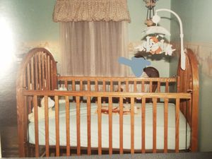 Solid Oak Child Craft baby bed for Sale in Fort Wayne, IN
