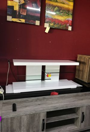 White tv stand for Sale in Irving, TX
