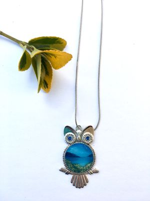 Handmade silver owl necklace for Sale in Falls Church, VA