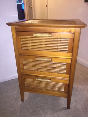 3-Drawer Bamboo table / night stand for Sale in Wheaton, MD