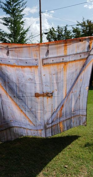 New rustic barndoor shower curtain or backdrop for Sale in Whittier, CA