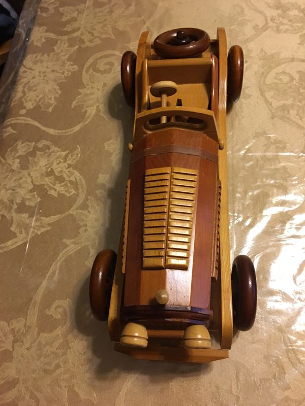 Toy collectible solid wood Roadster