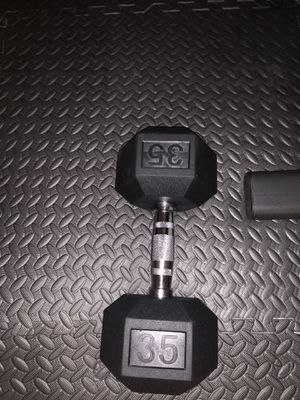 Weider Rubber coated 35 lb dumbbells (set of 2) for Sale in Virginia Beach, VA