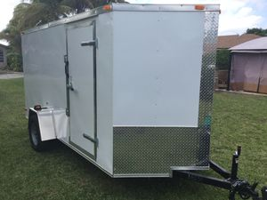 2019 Brand New 6' x 14' Enclosed Trailer with Reinforced Ramp Door for Sale in Pompano Beach, FL