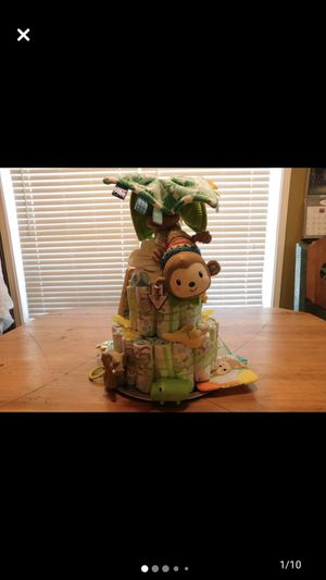 Diaper Cake Jungle themed for Sale in Maryland Heights, MO