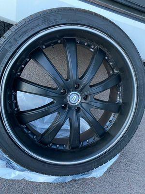 "Versante 22"" Black Rims With Brand New tires for Sale in Glendale, AZ"