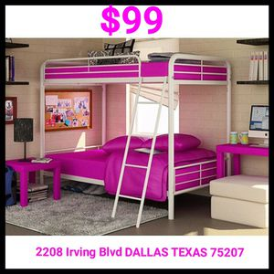 New Twin over Twin Bunk bed NO MATTRESSES $99 for Sale in Dallas, TX