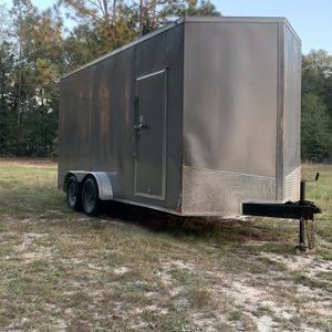 7x16 Enclosed Cargo Trailer 7.5 foot high Ceiling for Sale in Crestview, FL