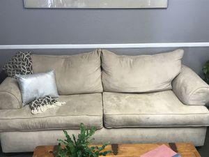 Cream Suede-Like Microfiber Sofa for Sale in Apache Junction, AZ