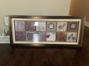 Large horizontal framed art neutral colors for Sale in Lancaster, NY