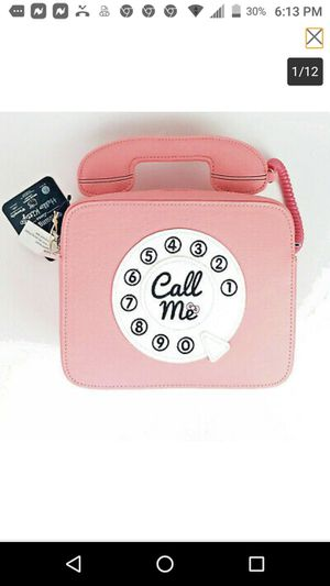Hello Kitty Telephone Call Me Crossbody Purse Pink Loungefly for Sale in Las Vegas, NV