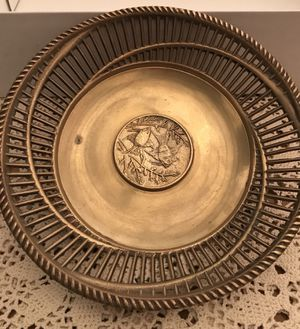 Gorgeous brass Korean bread or fruit basket / centerpiece for Sale in McLean, VA