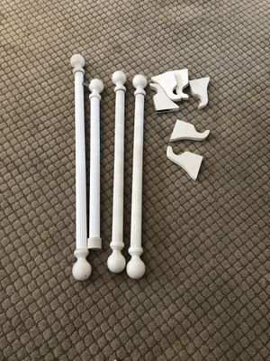 Wooden decor curtain rods for Sale in Azusa, CA
