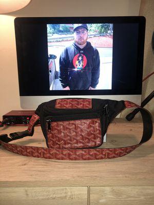 Red Goyard Fanny pack done by Kuhvit Custom. for Sale in Meriden, CT